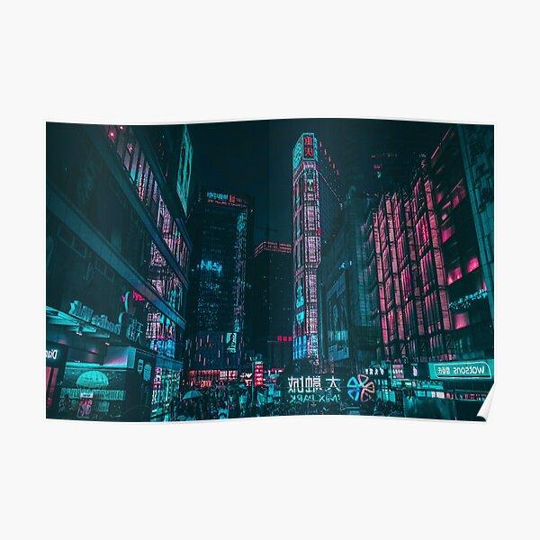 Shadowrun Neon City Nights, Cyberpunk Poster
