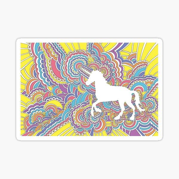 Unicorn Drawing Meditation Sticker