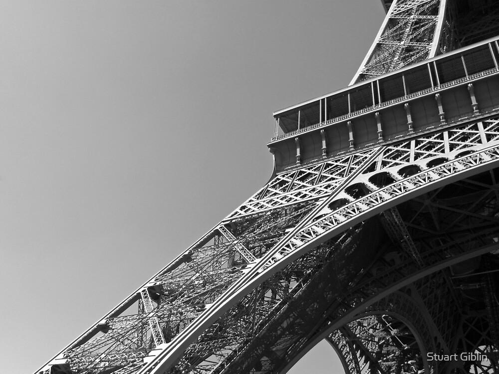 Paris - Eiffel Tower (Black & White) by Stuart Giblin