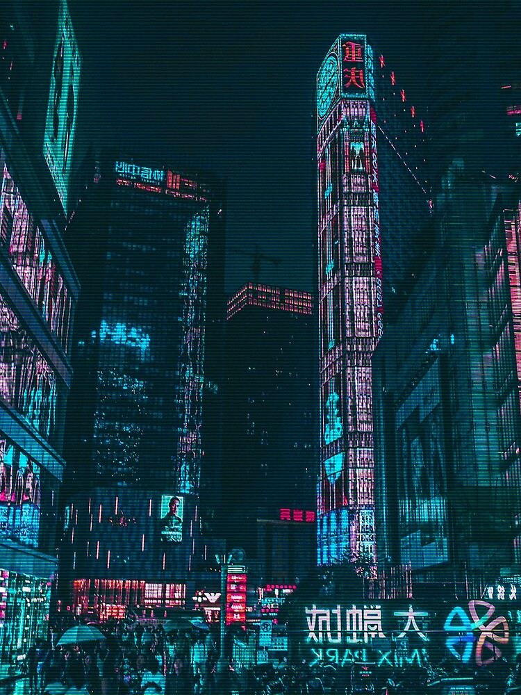 Shadowrun Neon City Nights, Cyberpunk by mia-scott