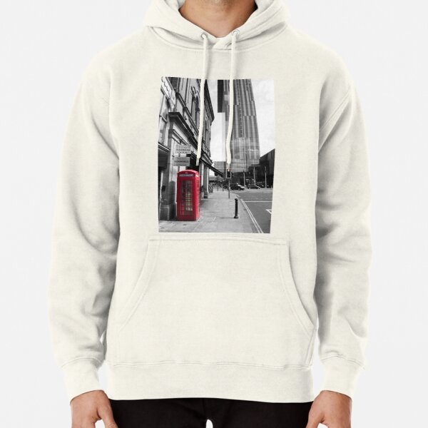 Red Telephone Box and Beetham Tower Pullover Hoodie