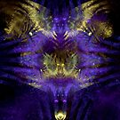 Caged Wings in Purple and Gold by marsartpics