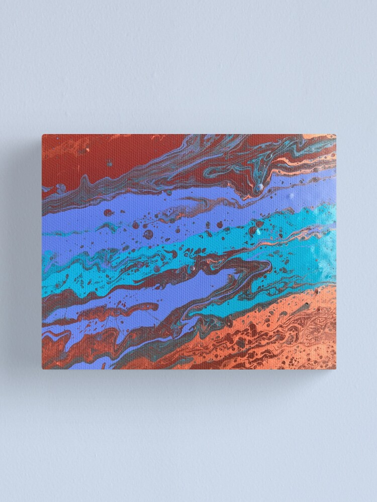 """Alternate view of Abstract Painting-Title """"Copper Creek Canyon""""  Canvas Print"""