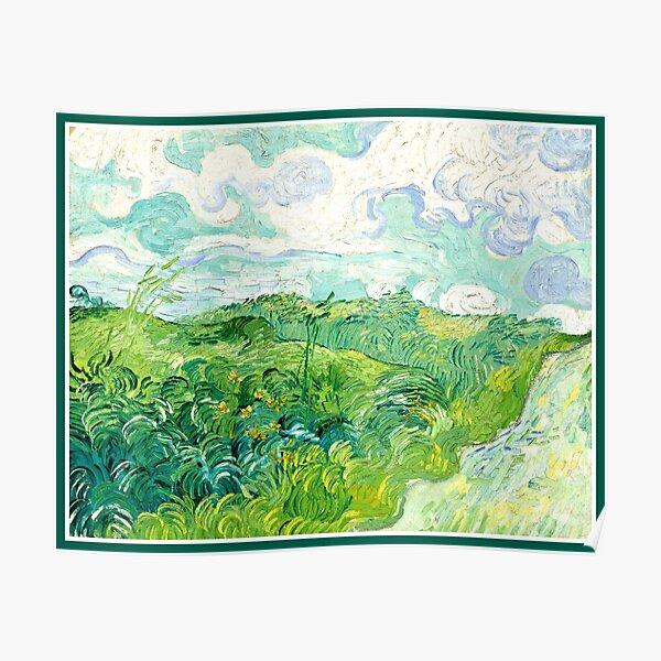 Van Gogh - Green Wheat Fields, Auvers Poster