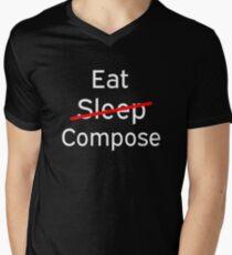 Compose eating sleep Men's V-Neck T-Shirt