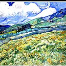 Van Gogh - Landscape from Saint-Remy, 1889 by virginia50