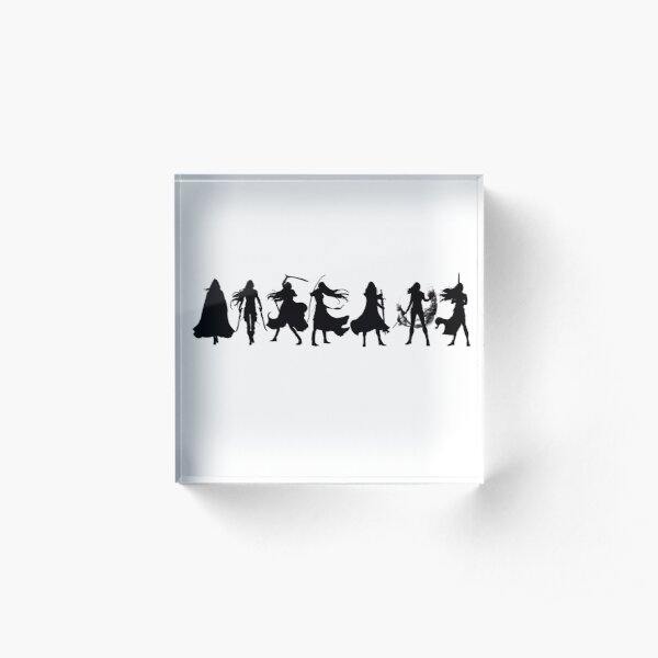 Throne of glass cover silhouettes  Acrylic Block