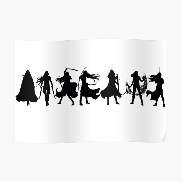 Throne of glass cover silhouettes  Poster