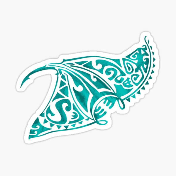 Aqua Blue Tribal Ray Sticker