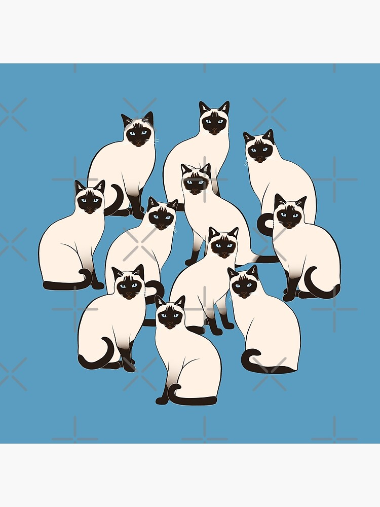Siamese Cats Circle by nadyanadya