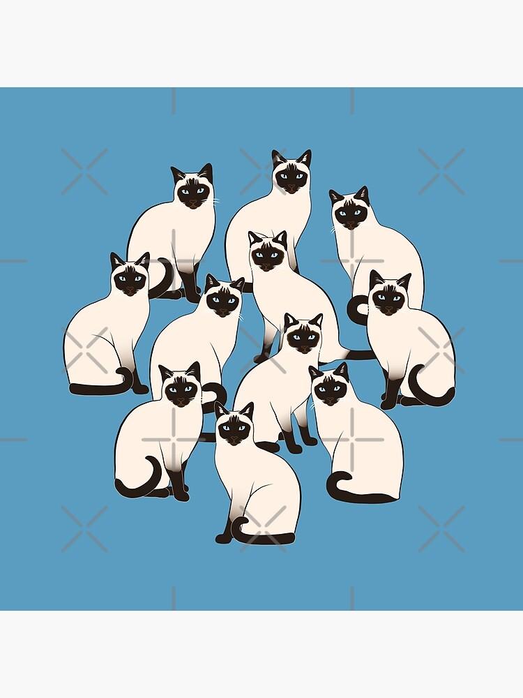 Siamese Cats Circle by nadyanadya