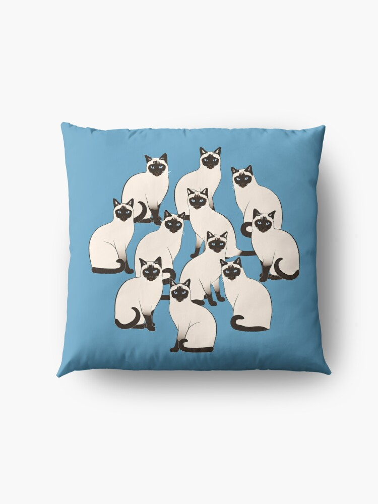 Alternate view of Siamese Cats Circle Floor Pillow