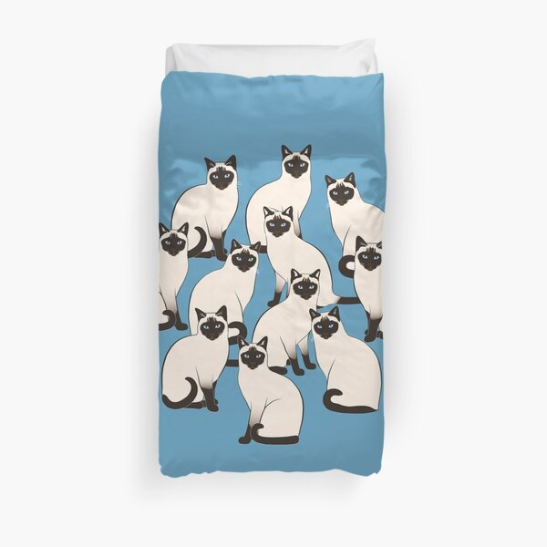 Siamese Cats Circle Duvet Cover
