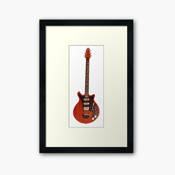 Brian May's Red Special Guitar Framed Art Print