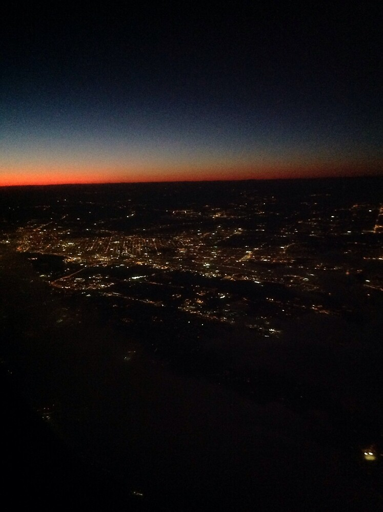 New Jersey by night... by Cwazymeart