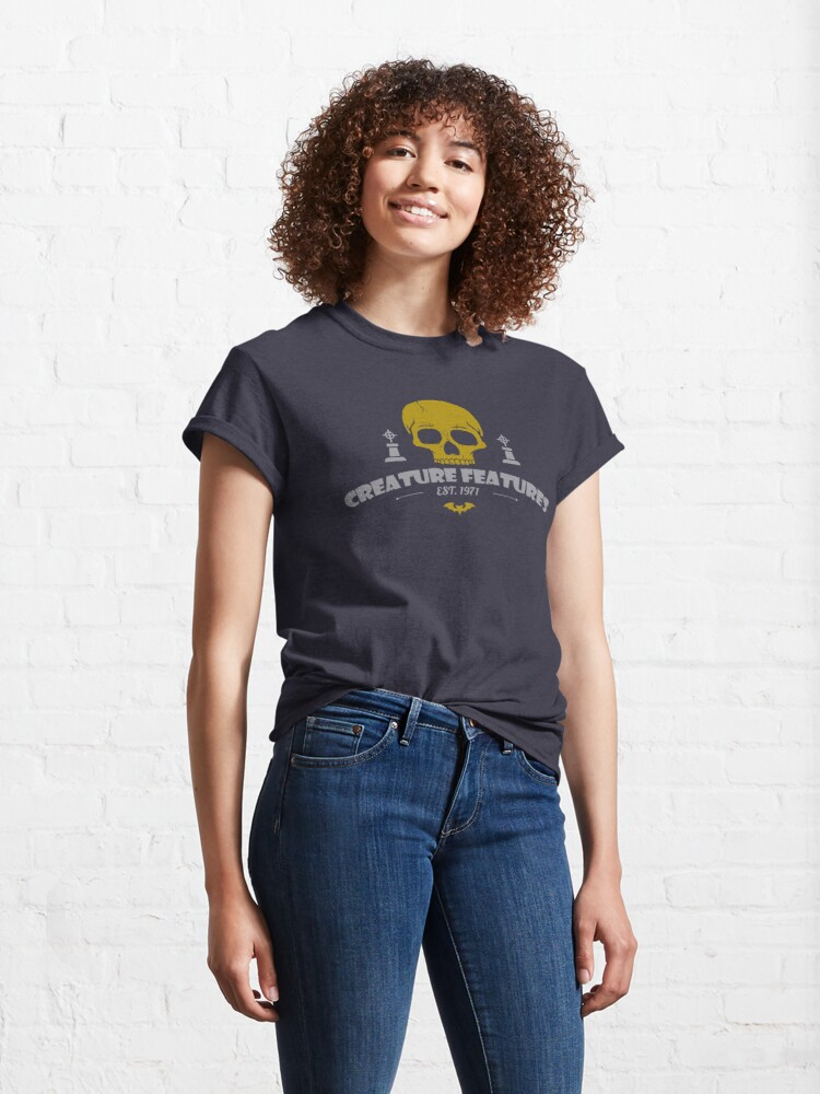Alternate view of Creature Features Skull Classic T-Shirt