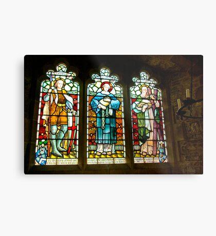 Hubberholme Church Window #2 Metal Print
