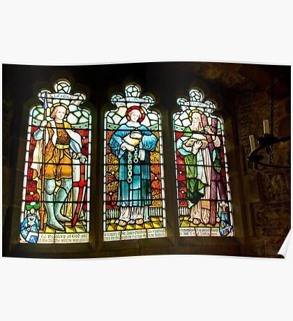 Hubberholme Church Window #2 Poster