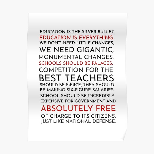Sam Seaborn Education Speech - The West Wing Poster