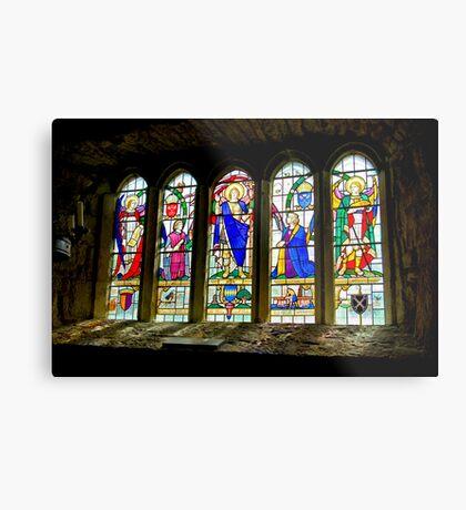 Hubberholme Church Window #3 Metal Print