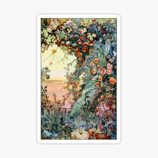 Die Früchte der Erde - Edward J. Detmold Sticker
