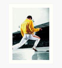 Fredddie Mercury Rock Concert Yellow Art Print