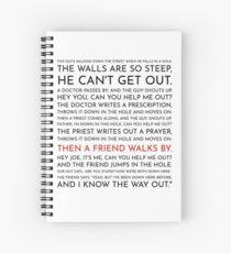 Cuaderno de espiral Guy cae en un agujero - Discurso de Leo McGarry