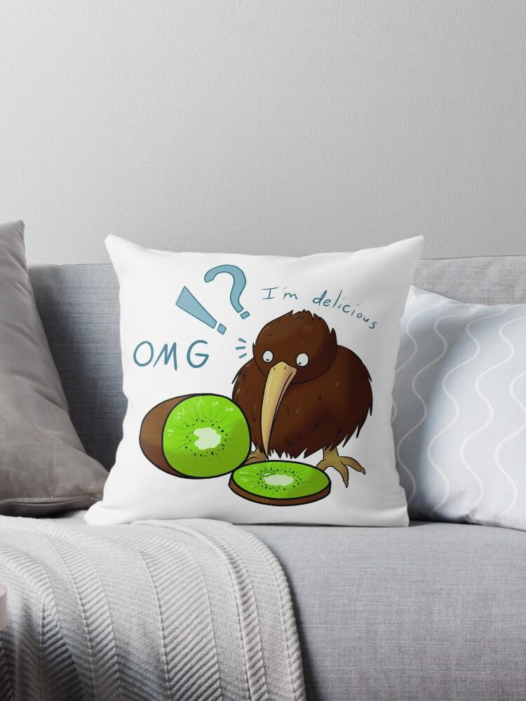 Kiwi Loves Kiwi Throw Pillow By Frozen Fortune Redbubble