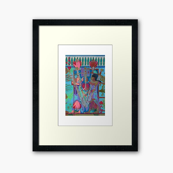 Five of Ringing Hearts Giclee Print with Borders Framed Art Print