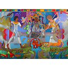 Two of Brotherly Love giclee with border by Denise Weaver Ross
