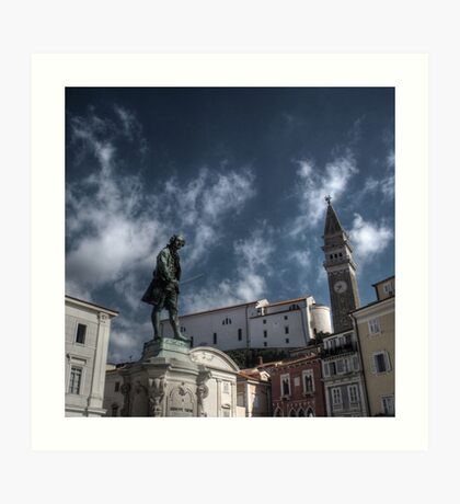 Local Hero - Piran, Slovenia Art Print