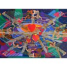 The Nine Lives of the Heart Giclee with border by Denise Weaver Ross
