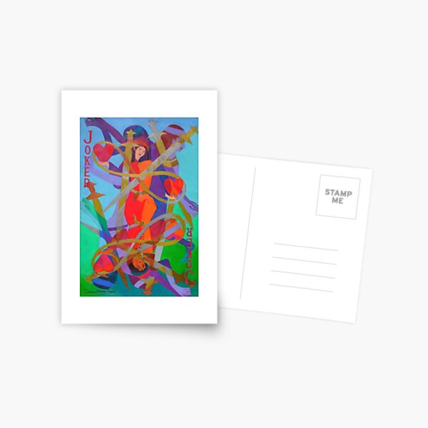 The Jokes on Our Hearts giclee with border Postcard