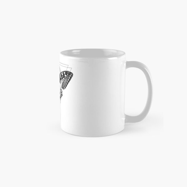 Butterfly with black geometric designs  Classic Mug