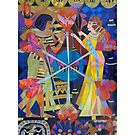 Six Phases of the Eclipse of the Heart giclee with border by Denise Weaver Ross