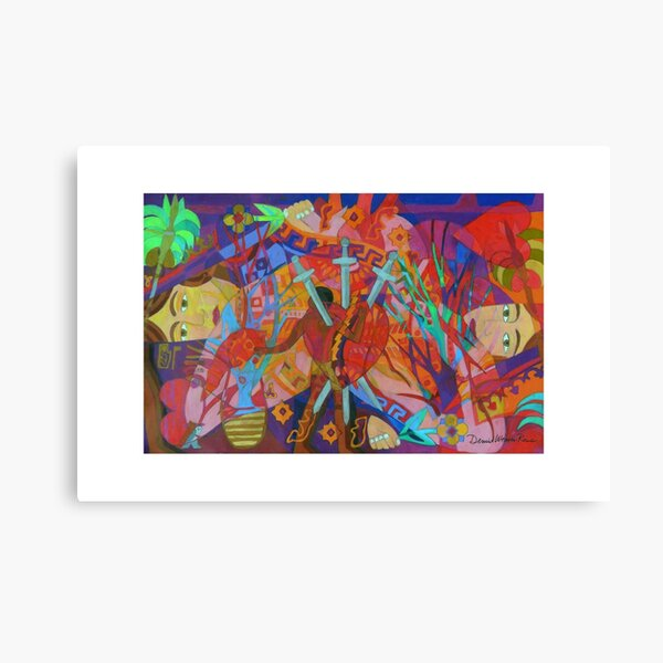 Queen of Heart Transplants Giclee with Borders Canvas Print