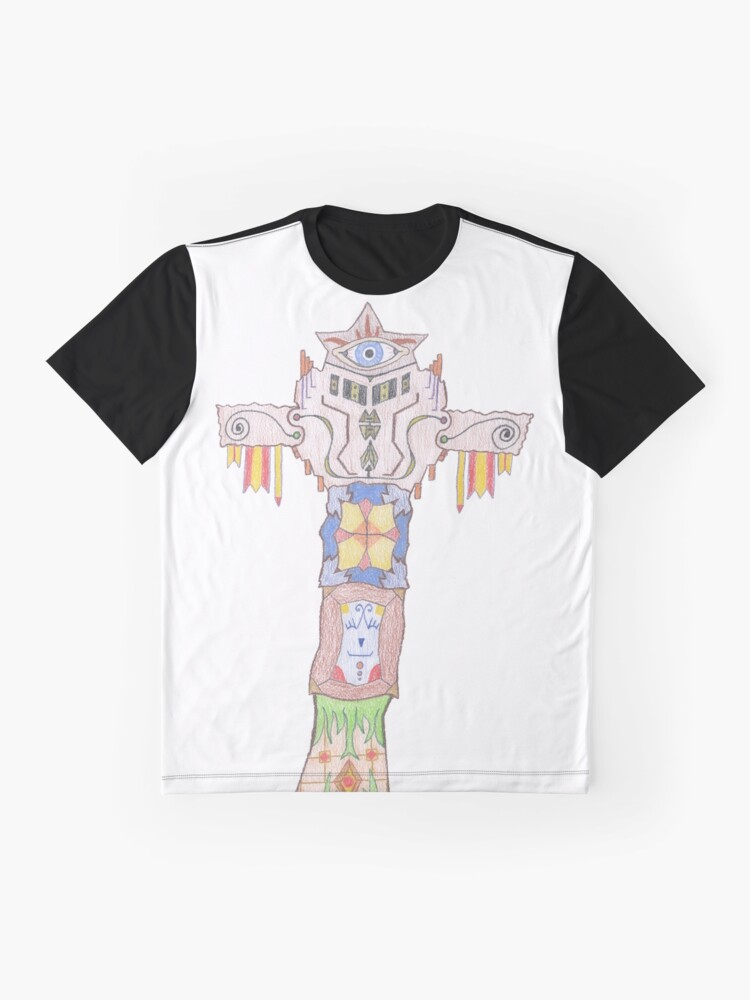 Alternate view of Merch #14 -- All-seeing Tassles Totem. Graphic T-Shirt