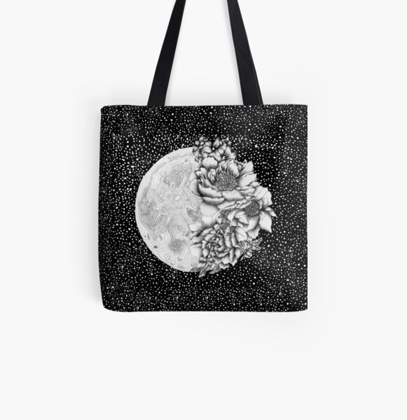 Moon Abloom All Over Print Tote Bag
