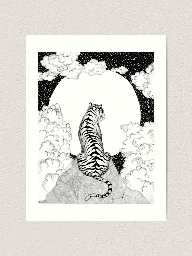 Alternate view of Tiger Moon Art Print