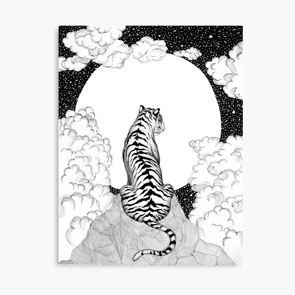 Tiger Moon Leinwanddruck