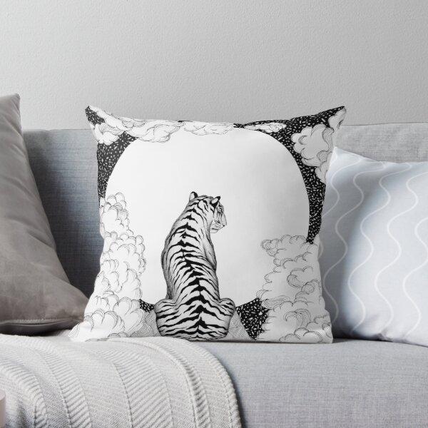 Tiger Moon Throw Pillow