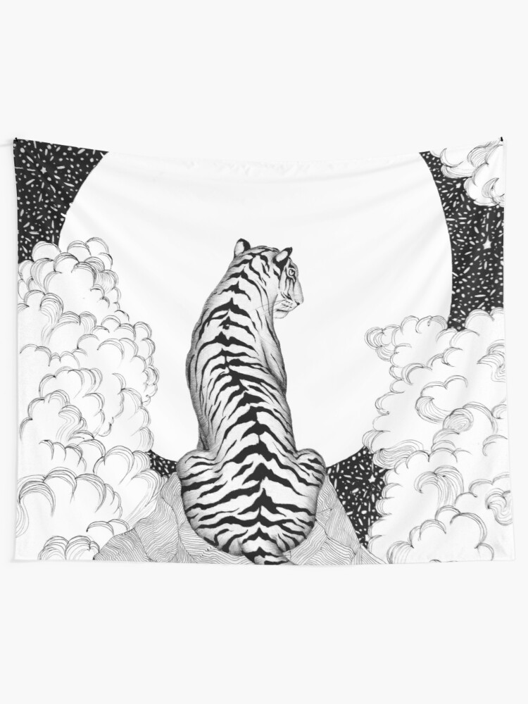 Alternate view of Tiger Moon Tapestry