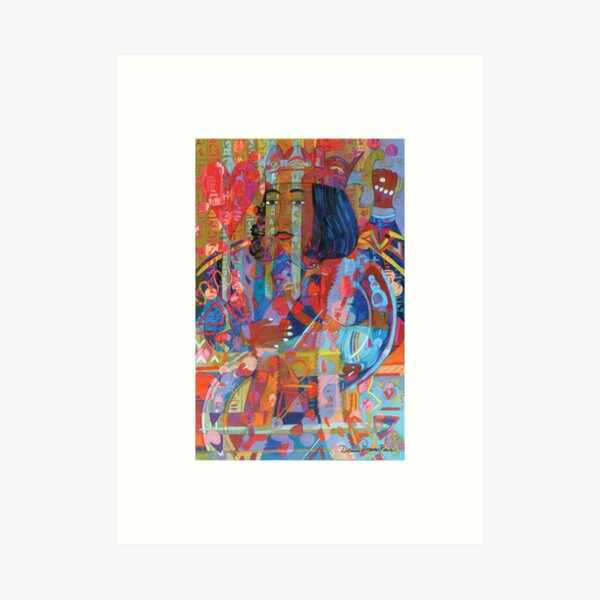 King of Hearts and the Sickle Moon giclee with borders Art Print