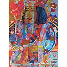 King of Hearts and the Sickle Moon giclee with borders by Denise Weaver Ross