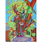 Apogee of an Apricot Tree giclee with borders by Denise Weaver Ross