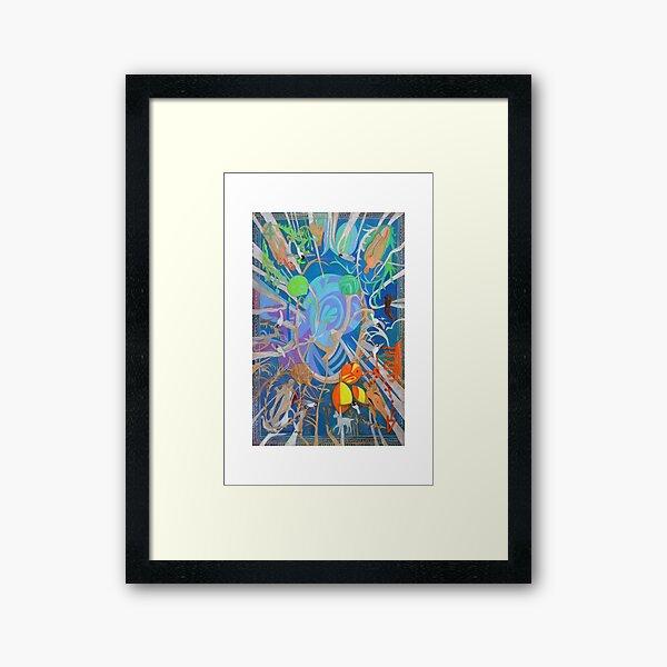 Four of Whirling Aspens Framed Art Print