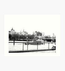 Thames River Art Print