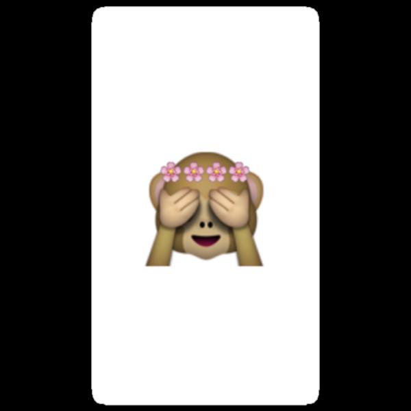 Quot Emoji Monkey Flower Crown Quot Stickers By Kirsten Noelle