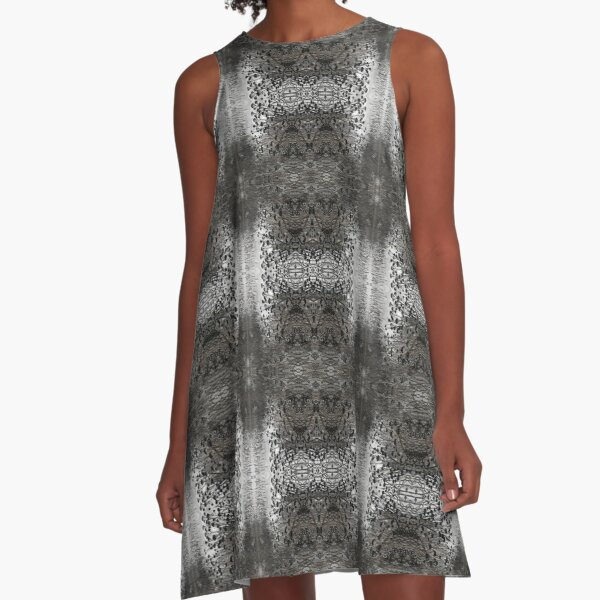 pattern, design, abstract, art, decoration, illustration, old, textile, shape, element A-Line Dress