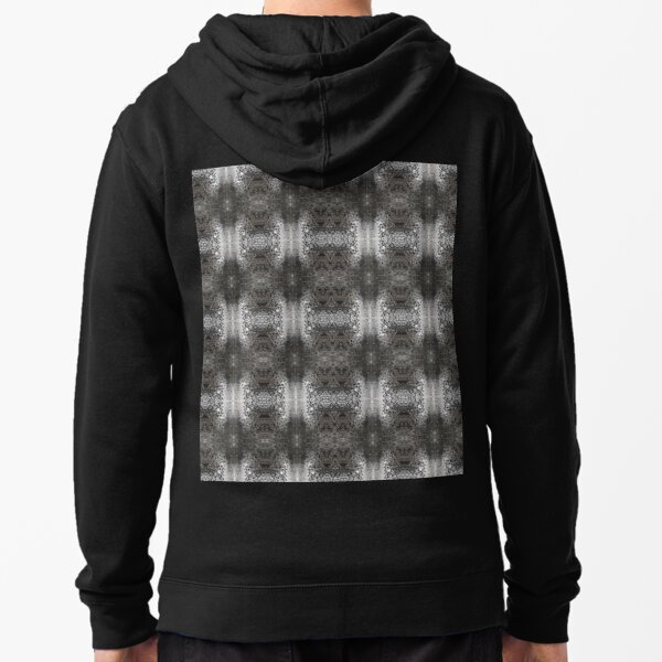 pattern, design, abstract, art, decoration, illustration, old, textile, shape, element Zipped Hoodie